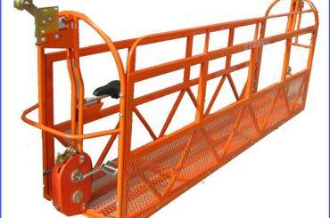 6м 1.5kw 630кг боядисани скелетни работни платформи алуминий с стоманена тел 8.3мм
