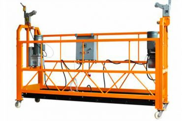 ce сертифицирана алуминиева окачена работна платформа zlp1000 мощност на мотора 2.2kw
