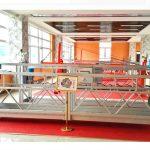 зъбна алуминиева окачена платформа зл630 / висококачествено оборудване за почистване на прозорци / временна гондола / люлка / люлеещ се етап